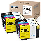 TEINO Remanufactured Ink Cartridges Replacement for Epson 200XL 200 XL T200XL use with Epson Expression XP-410 XP-400 XP-310 XP-200 Workforce WF-2540WF WF-2530 (Black, Cyan, Magenta, Yellow, 10-Pack)