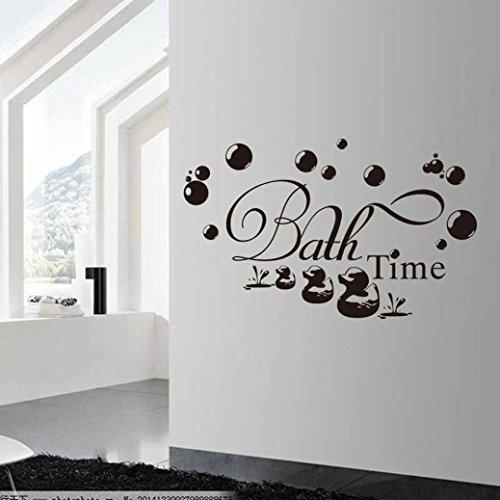 SMILEQ - Adhesivo Decorativo para Pared con Citas de baño, diseño de Burbujas de Pato
