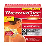 ThermaCare - Advanced Neck Pain Therapy, 9 Air-Activated Neck, Wrist & Shoulder HeatWraps. Up to 16 Hours of Pain Relief