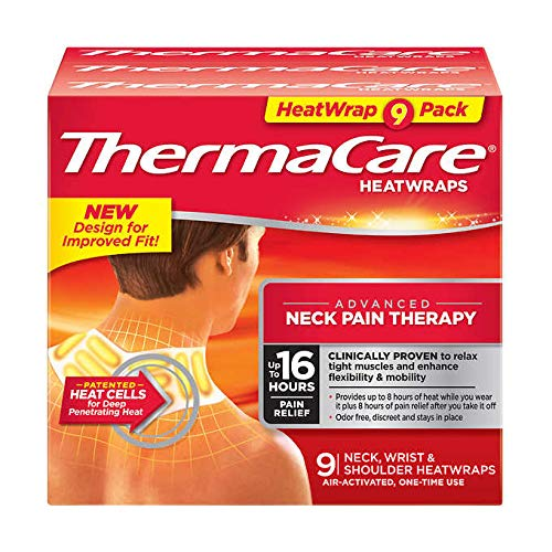 ThermaCare  Advanced Neck Pain Therapy 9 AirActivated Neck Wrist amp Shoulder HeatWraps Up to 16 Hours of Pain Relief