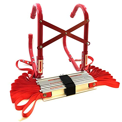 Fire Escape Ladder Approved To EN131 With Storage Bag 2 or 3 Storey (7.3...
