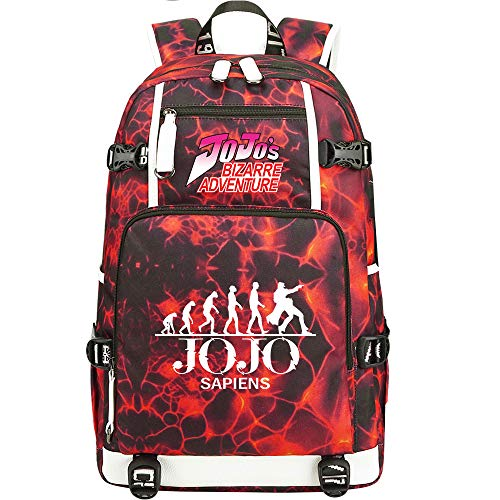 GOYING JoJo's Bizarre Adventure Jonathan Joestar/Joseph·Joestar Backpack Casual Rucksack Waterproof Business Travel with USB Unisex-H