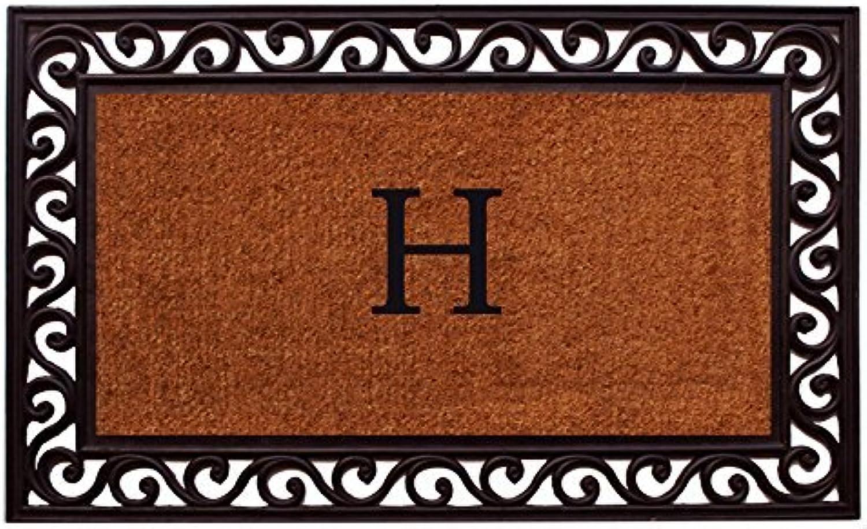 Home & More 100062236H Rembrandt Monogram Doormat 22-Inch X 36-Inch (Letter H)