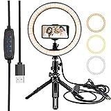 YIBOKANG Trípode Portátil Telescópico Creativo 26 Cm Anillo LED Light Light Beauty Live Special Equipment Set