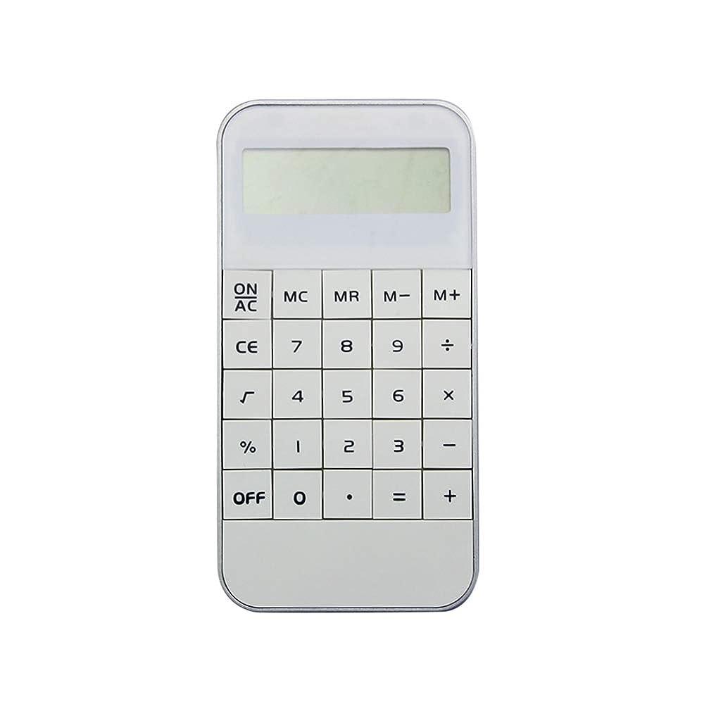 仕方吹きさらしクレデンシャル10桁 電子計算機 ミニ ビジネス電卓 LR44ボタンバッテリー ポケット電子電卓 科学計算機 標準機能 薄型 スマホ携帯電話のサイズ 携带便利 ホーム オフィス 学校 学習用品 ホワイト