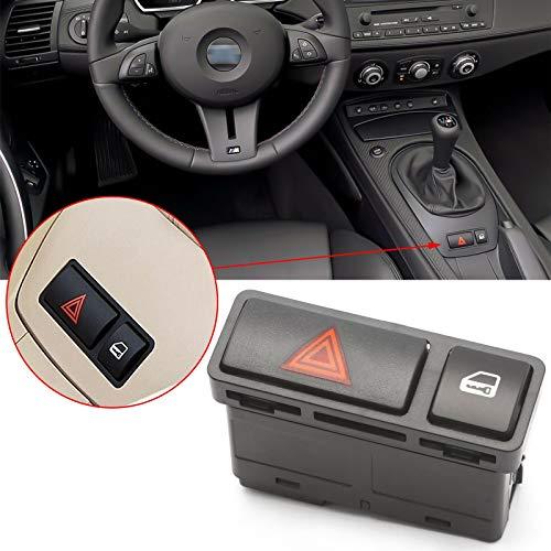 Xotic Tech - Interruptor de luz de advertencia de peligro para BMW Serie 3 E46 E53 E85 325 X5 1999-2008 61318368920