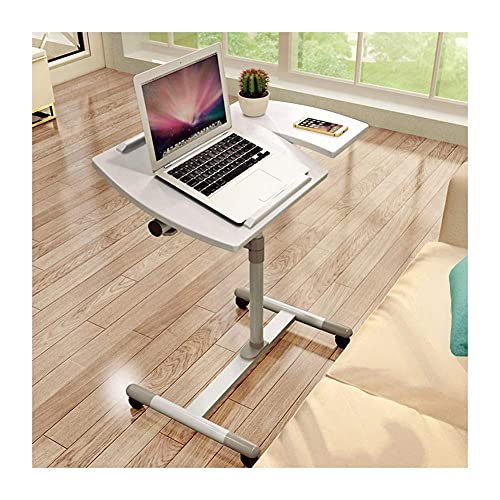 FGDSA Office Computer Desk Portable Stand Laptop Table with Anti-Slip Bar for Home Sofa Bed Metal Frame,Black