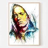 WDQFANGYI Póster De Eminem, Lienzo, Rapero, Estrella, Collage, Carteles E Impresiones, Cuadros Artísticos De Pared, Sala De Estar, Decoración del Hogar, 40X50Cm (FLL6659)