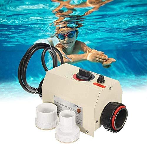 Lucsiky Termostato riscaldatore per Piscina 220V 3KW Riscaldatore Portatile per Piscina Scaldabagno Elettrico Pompa riscaldatore termostato per Piscina Spa Bath