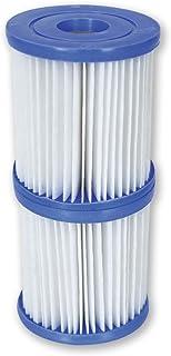 Bestway  - Set de dos filtros de agua Tipo I para depuradora de cartucho 1.249 l/h