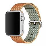 MooveTeck Bracelet Nylon HOCO Or Rouge for Apple Watch 42mm