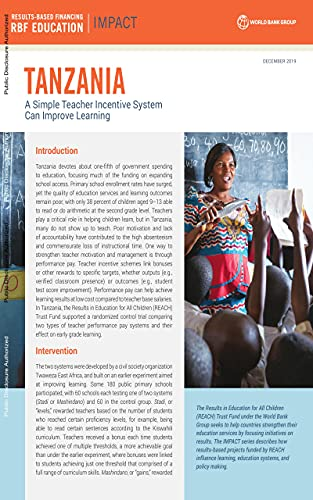 Tanzania : A Simple Teacher Incentive System Can Improve Learning (English Edition)