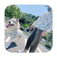 ファッション犬シャツハワイアンスタイルペットマッチング服中大型犬コスチュームラブラドールゴールデンレトリバーペット犬服-カクタス-ペット用L