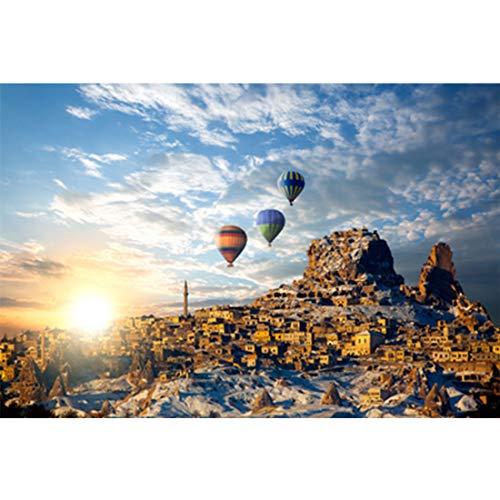 IQ Challenge Puzzel Hot Air Balloon Ride houten puzzel 1000 Stuks Verjaardagsgeschenk voor Kids Meisjes Jongens