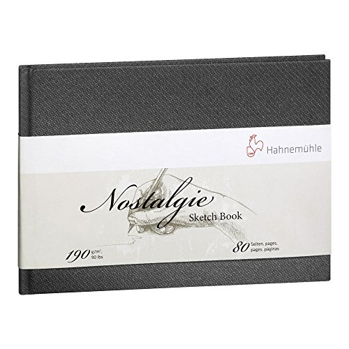 Hahnemuhle Nostalgie Sketch Book Portrait A5 (8.3x5.8 inches) 190gsm 40 sheets/80 Pages