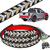Tailgate Light Bar LED Light Strip Brake Running Turn Signal,60 Inch Weatherproof ,No Drill Install, Light Bars for Trucks,for Pickup, RV, SUV, IP68 Waterproof