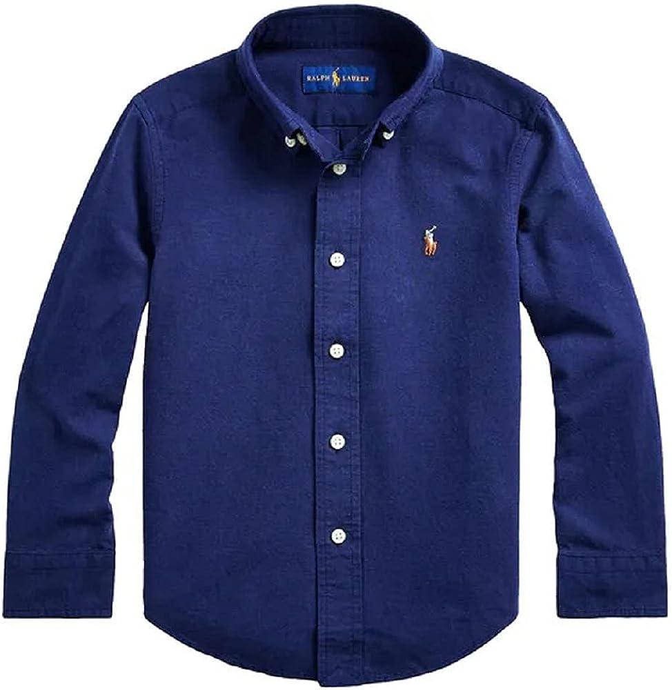 Ralph Lauren Newport Navy Boy's Cotton-Blend Shirt, US Small