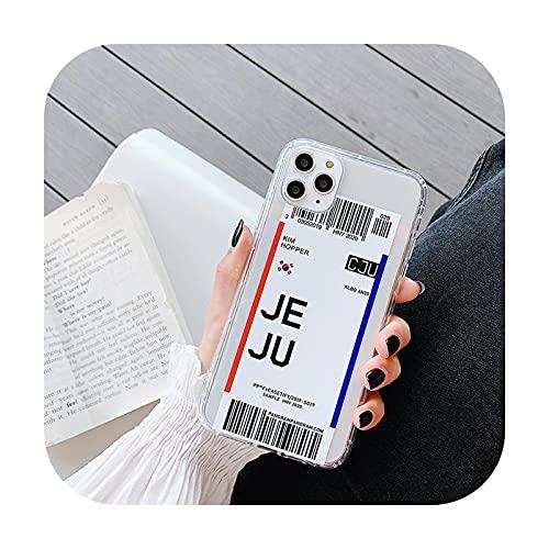phone cover Fundas de teléfono para iPhone 11 12 Mini Pro Max X Xr 8 7 6S 6 Plus Soft Tpu Boarding Pass Cover - 2-Para Iphone 11