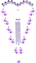 Hlaximilian Love Shape Wind Chimes Outdoor, 36''Handmade Wind Chimes with 21 Thousand Paper Cranes and 15 Metal Hollow Tubes,Amazing Gift for Home,Patio,Porch,Garden,or Backyard - Purple