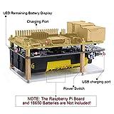GeeekPi Mini UPS Stromversorgung 2PCS UPS 18650 Batterieladegerät Power Bank mit LED-Anzeige((25% pro Schritt),Ausgangsüberstromschutz für Raspberry Pi 3B / 3B + (Batterie Nicht...