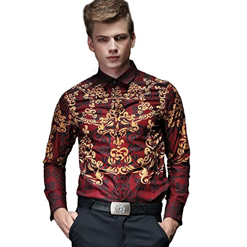 FANZHUAN Fitted Dress Shirts Men Non Iron Shirt Slim Fit Long Sleeve