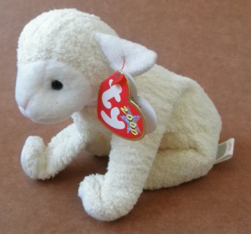 TY Beanie Babies Fleecie the Lamb Stuffed Animal Plush Toy - 7 inches long