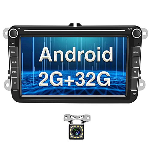 Autoradio Auto per VW 2G+32G Autoradio con Navigatore Camecho 8'' Touch Screen Bluetooth Auto Stereo Supporto WIFI/FM Radio/Dual USB per VW Golf Touran Jetta POLO Seat Sharan
