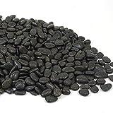 MGS SHOP Zierkies Nero schwarz matt glänzend Feng-Shui Kies frosthart