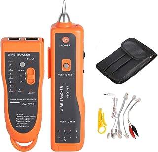 Goeco Localizzatore di cavi RJ45 Cat5 Cat5 Cat RJ11, Rete LAN Ethernet del toner Tracer, Tester per cavi, Rilevatore di linea