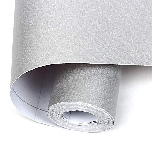 壁紙シール 無地 壁紙 グレー DIY ウォールステッカー はがせる 防水 45cm×10M 壁紙 シール のり付き クロス カッティングシート 防水 防油 耐熱