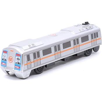 Amazhub Centy Pull Back Metro Train (Silver)