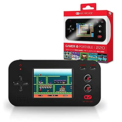 My Arcade Gamer V Portable - Handheld Gaming System - 220 Retro Style Games - Lightweight Compact Size - Battery Powered - Full Color Display - Volume Buttons - Black by iSound