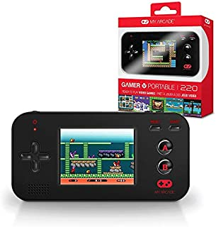My Arcade Gamer V Portable - Handheld Gaming System - 220 Retro Style Games - Lightweight Compact Size - Battery Powered - Full Color Display - Volume Buttons - Black