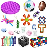 Soaab 32 Pack Sensory Toys Set,Fidget Toys for Adults, Kids,Babies Stress Relief Anti-Anxiety Fidget Toy Party Favour...