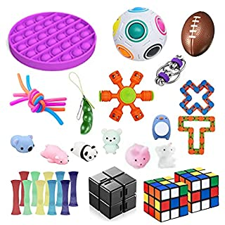 Soaab 32 Pack Sensory Toys Set,Fidget Toys for Adults, Kids,Babies Stress Relief Anti-Anxiety Fidget Toy Party Favour Classroom Rewards with Pop Bubble Toy SquishyToys Set (B091F8SPYS)   Amazon price tracker / tracking, Amazon price history charts, Amazon price watches, Amazon price drop alerts