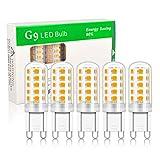 BeiLan Bombillas LED G9 de 3W Equivalente a 30W Lampara Halógena,Blanco Cálido 3000K,300LM,Sin Parpadeo,360 Grados, No Regulables, AC220-240V, Paquete de 5