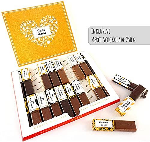 SURPRISA Aufkleberset mit Merci-Schokolade: Das persönliche Dankeschön und kreative Geschenk für Mama oder Papa