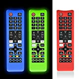 [3 Pcs] Protective Cover for Samsung TV Remote, Silicone Protective Case Compatible with Samsung Smart TV Remote BN59-01301A Bn59-01315A Bn59-01199F [Light Weight/Anti Slip/Shock Proof/Glowing]