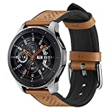 Spigen Retro Fit Compatible con Samsung Galaxy Watch 3 45mm Correa Band (2020) / Galaxy Watch 46mm Band (2018) / Gear S3 Frontier Band / S3 Classic Band - Marrón