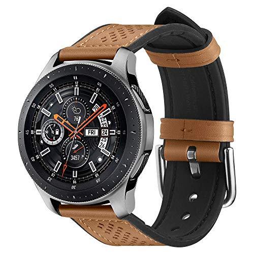Spigen Retro Fit Entwickelt für Galaxy Watch 3 45mm Armband (2020) / Galaxy Watch 46mm Armband/Gear S3 Frontier Armband / S3 Classic Armband - Braun