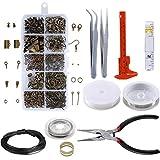 AILANDA 955pcs Kit de Accesorios de Joyería con Herramientas de Reparación de Joyas para Hacer Bisuteria y Reparar Collares y Pulseras y Pendientes Accesorios
