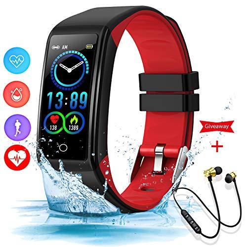 Montre Connectée Femmes Homme Etanche Bracelet Connecté IP67 Smartwatch Sport Fitness Tracker Sleep Monitor Card Cardiofréquencemètre Montre Intelligente Android iOS