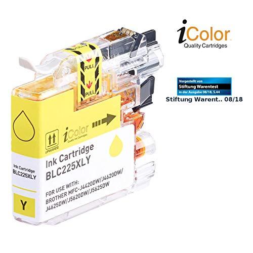 iColor Brother Mfc J4620dw: Tintenpatrone für Brother (ersetzt LC-225XL), Yellow (Ink-Cartridge)