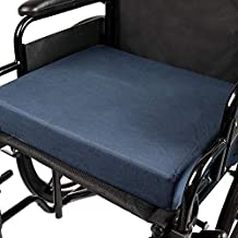 DMI Seat Cushion for Wheelchairs, Mobility Scooters, Office and Kitchen Chairs or Car Seats to Add Support and Comfort while Reducing Pressure and Stress on Back, 3 Inch thick, 16 x 18, Navy Blue