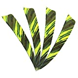 MILAEM 50 Piezas Plumas de Flecha Tiro con Arco 4 Inch Fletches Naturales Fletching para DIY Flechas...