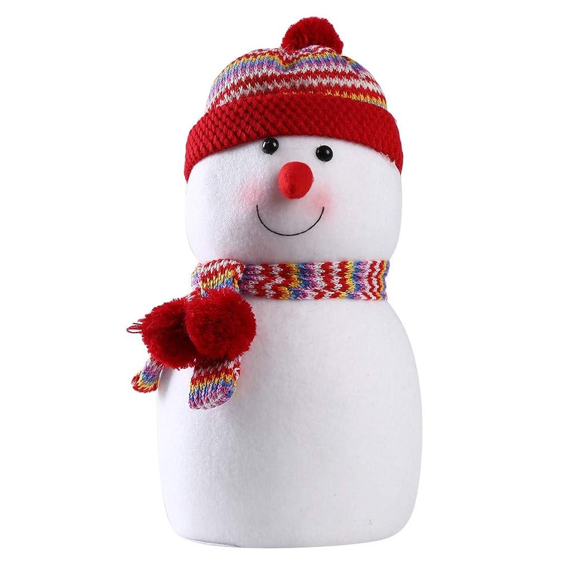 気球参照する区Sevenfly クリスマスツリーシルクハット雪だるまクリスマスホリデー冬ワンダーランドパーティーデコレーションデコレーション(赤 23cm*14cm)