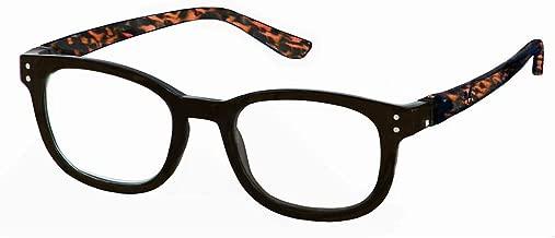 Bunny Eyez Anna Wearable, Tilt-able, Flip-able Women's Reading Glasses - Jet Black with Tortoise Temples (+1.25)