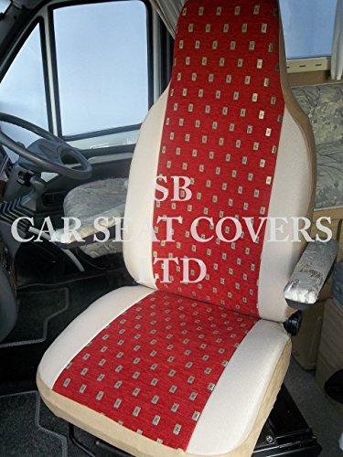 R – passend für FIAT Ducato Wohnmobil-Sitzbezüge, Ellie Red MH-701