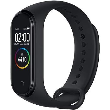 Xiaomi Band 4 Fitness Tracker 0,95 Zoll Farbe AMOLED Monitor Herzfrequenz 50 m Aktivitäts-Tracker Wasserdicht Smart Armband 2019 Schwarz E-Commerce 21,6 mm