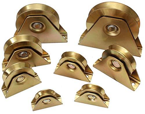 Hochlast Torrolle Laufrolle Schiebetor Rolltür Rolltor Hohlkehle Auswahlmöglichkeit: 50-140mm / belastbar bis 1500kg (Modell: 60mm)